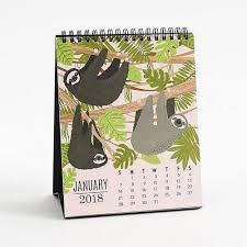 2018 easel desk calendar paper source critter easel desk calendar 2018 products pinterest