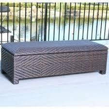 Wicker Storage Bench Resin Wicker Storage Bench Foter