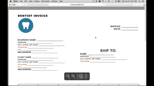 sample invoice word template how to make a dental invoice excel word pdf youtube