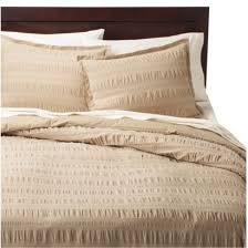 threshold seersucker duvet cover set khaki 69 99 queen registry