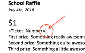 print raffle tickets using a template in office word 2016