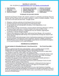 Types Of Skills Resume There Are Two Types Of Biotech Resume One Is The Academic Resume