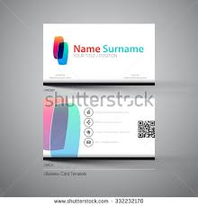 Simple Business Cards Templates Modern Simple Light Business Card Template Stock Vector 152465948