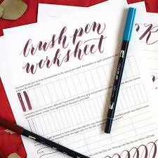 free brush pen calligraphy worksheet the postman u0027s knock