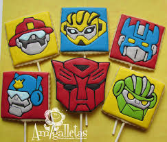 transformers rescue bots 1 edible cake or cupcake topper edible transformers cookies rescue bots by amigalletas on etsy birthday