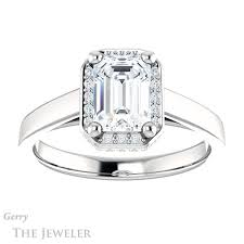 engagement ring setting emerald cut engagement ring setting gtj1284 emerald w gerry the
