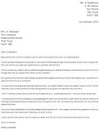leaver job cover letter example u2013 cover letters and cv examples
