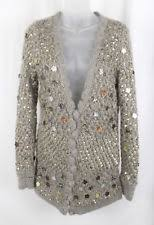 Gold Sequin Cardigan Women U0027s Zac Posen Sweaters Ebay