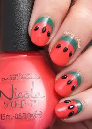 simple ruffian watermelon nail art adventures in acetone