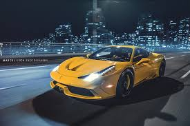 Ferrari 458 Yellow - yellow ferrari 458 speciale front side view on road sssupersports