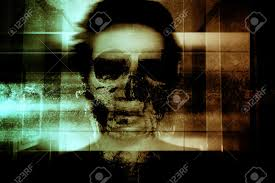 halloween scary background green ghost face scary background for book cover and movies poster