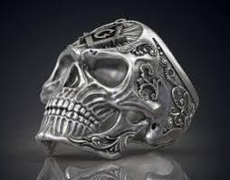 free print ready rings 3d skull 3d models cgtrader