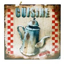 plaque d馗orative cuisine plaque décorative murale cuisine cafetiere ancienne en métal