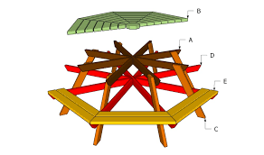 Octagon Patio Table Plans How To Build An Octagon Picnic Table Howtospecialist How To