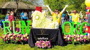 flowers okc teleflora sponsors and employees run in the okc memorial marathon