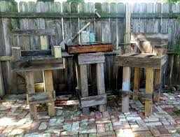 Outdoor Bar Table Set Diy Pallet Outdoor Bar Table Set 101 Pallet Ideas
