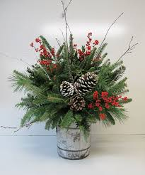 how to make a christmas floral table centerpiece christmas arrangements assorted greenery arrangements