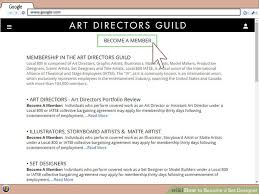 Production Designer Art Director How To Become A Set Designer 11 Steps With Pictures Wikihow