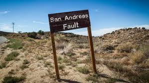 San Andreas Map M U003d4 Earthquake At Southern Tip Of The Great 1906 San Andreas