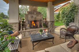 covered porch with fireplace fair z plus architects decks patios