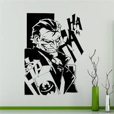 Superhero Home Decor Aliexpress Com Buy Comics Joker Wall Vinyl Decal Batman Sticker