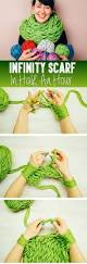am knitting tutorial make your own infinity scarf in half an