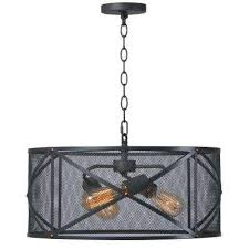 Black Pendant Light Black Drum Pendant Lights Lighting The Home Depot