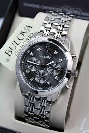 bulova bracelet images Bulova diamonds men 39 s quartz watch steel grey dial chronograph jpg