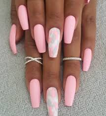 pink u0026 camo coffin nails nails done pinterest coffin nails