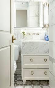 Marble Bathroom Vanity by Wood And Marble Bath Vanity With Ring Pulls Transitional Bathroom