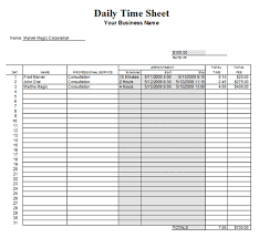 Daily Timesheet Template Excel Daily Timesheet Template 7