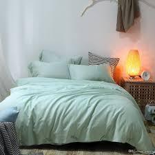 pure green tencel linen cotton lyocell quilt cover king queen high grade bedding sheet pillowcase bedclothes soft cool bedding set yellow comforter set