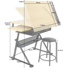 Drafting Table Dimensions Hartleys Drawing Table With 2 Drawers Drafting Bench Artists