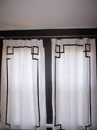 White Curtains With Blue Trim Cool White Curtains With Navy Trim Decorating With Navy And White