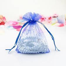 organza bag wholesale 500pcs lot royal blue organza bag 7x9cm wedding favor