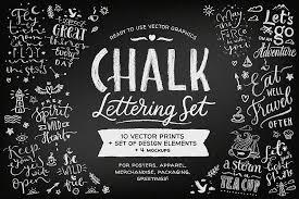 chalk lettering set vector by zira zulu design bundles