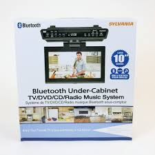 Under Kitchen Cabinet Cd Player Amazon Com Sylvania Skcr2706bt 10 2
