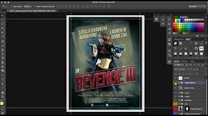 how to customize a film poster template in photoshop