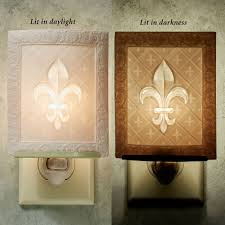 fleur de lis home accents touch of class fleur de lis nightlight light cream