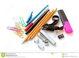fournitures bureau fournitures de bureau d école sur le blanc image stock image du