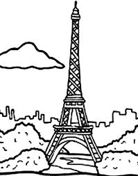 eiffel tower free coloring pages faransa paris eiffel tower