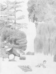 gorgeous black and white drawings of nature scenes that possess a