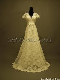 short lace wedding dress with sleeves u2014vintage inspired pjtx