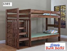 Wooden Bunk Bed With Stairs Bunk Bed Staircase With Mattresses Call For Pricing
