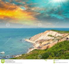 martha s vineyard wonderful landscape of aquinnah beach martha u0027s vineyard stock