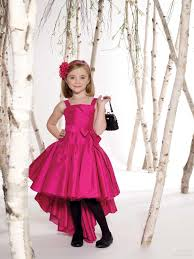 fashion taffeta hi lo little kids party dresses for girls with