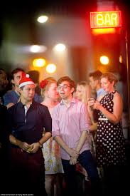 christmas party goers spill out onto the streets of sydney