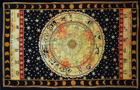 Wall Tapestry Hippie Bedroom Amazon Com Handicrunch Black Zodiac Horoscope Tapestry Indian