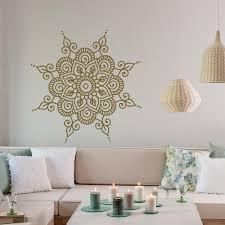 Lotus Flower Wall Decal Om by Mandala Wall Decal Vinyl Sticker Mandala Wall Art Boho