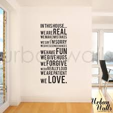 quote decals for glass vinyl wall sticker decal in this house we do